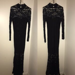 Long black elegant dress